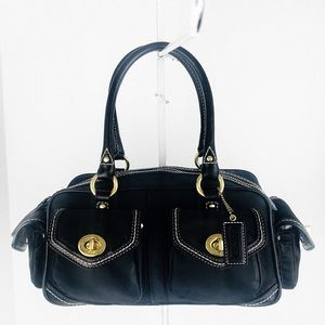 Coach Sateen Gallery Turnlock Small Satchel Bag
